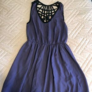 Purple dress with crochet back